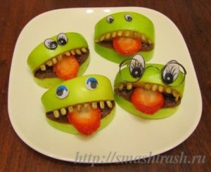 Apple snacks for Halloween